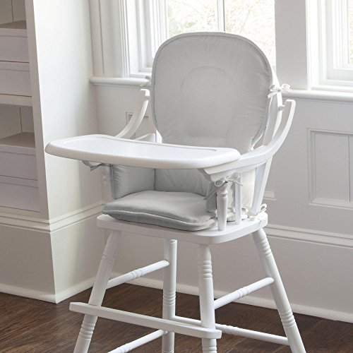 Carousel Designs Solid Silver Gray High Chair Pad