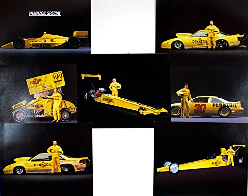 1993-nhra-pennzoil-racing-set-of-7-hero-cards-pennzoil-special-cards-8x10-inches-stats-bios-on-back-