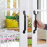 WEBI Barn Door Handle,11 Inch Cast Iron Gate