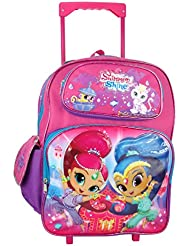 Nickelodeon Shimmer and Shine Large Rolling Backpack