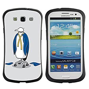 Hybrid Anti-Shock Bumper Case for Samsung Galaxy S3 / Penguin Suit