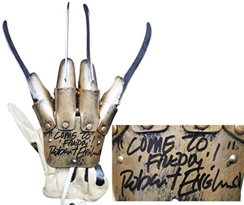 Robert Englund Come To Freddy Signed Deluxe Deluxe Freddy Krueger Glove (Freddy Krueger Deluxe Glove)