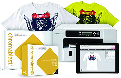 Sawgrass Virtuoso SG400 Chromablast Printer with CMYK Inks & 200 Sheets of 8-1/2