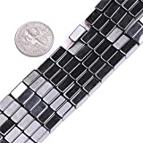 Natural Cube Magnetic Hematite Healing Stone Beads for Jewelry Making 15'' (4x8mm)