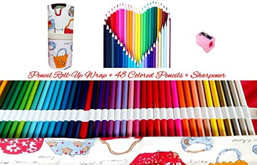 Multi Colored Pencils for Adult Coloring Book with Pencil ...