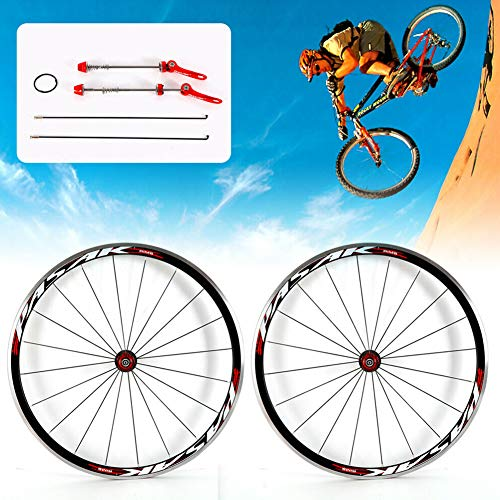 TBVECHI Bike Wheelset 700C Bicycle Road Bike Wheel F&R Wheel Set Aluminium Rim 30mm Brake C/V