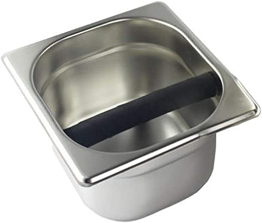 Stainless Steel 1X Coffee Knock Box Bin Durable Replaceable for Buffering Coffee