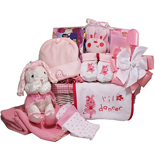 Art of Appreciation Gift Baskets Baby Ballerina Gift Basket, Pink Girl