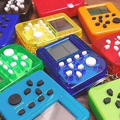 Huluda Mini Brick Game Console Keychain Vintage Handheld Game Player Children Gift Toy: Home & Kitchen