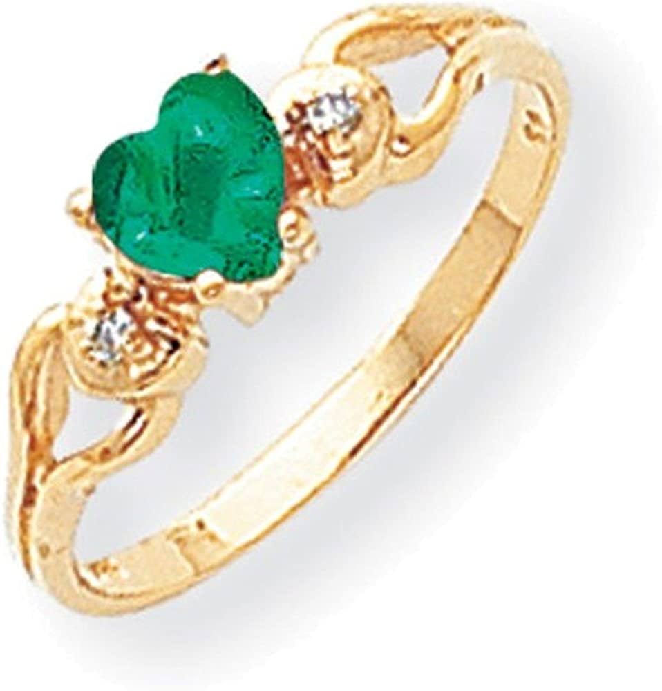 I2 clarity, I-J color Jewelry Adviser Rings 14k A Diamond heart ring Diamond quality A