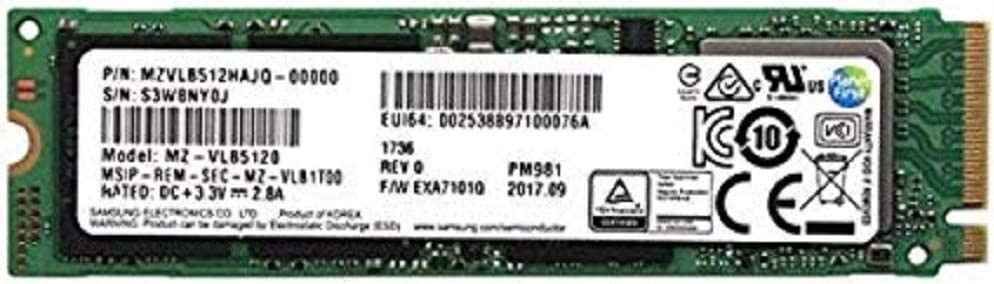 Samsung PM981 - Memoria SSD de 512 GB, Color Negro: Amazon.es ...