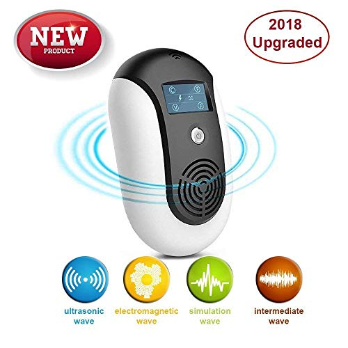 Repeller Rodent Plug Electronic In (Pest Control Ultrasonic Repeller, Plug in, Indoor Outdoor Electronic Control Rodent, Mosquitoes, Mice, Ants, Rats, Roaches,Spiders, Bugs, Flies, Eco-Friendly, NO Chemicals, Non-Toxic Human & Pet Saf)