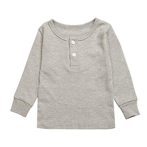 12603de5e7 Mary ye Kids Boy Girl Solid Pink Yellow Pajamas Set 100% Cotton 2Pcs  Sleepwear