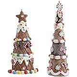 "RAZ Imports - 5.5"" and 6.25"" Gingerbread Tree Ornaments"