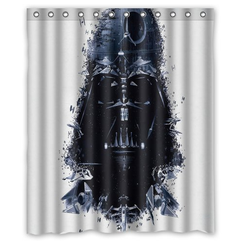 Darth Vader Print Shower Curtain Polyester Bath Curtain Fabric Waterproof/Mildew Free 60 Inch by 72 Inch Adult toys