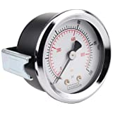 NOSHOK 100 Series Steel Dual Scale Dial Indicating Pressure Gauge with Panel Mount, 2
