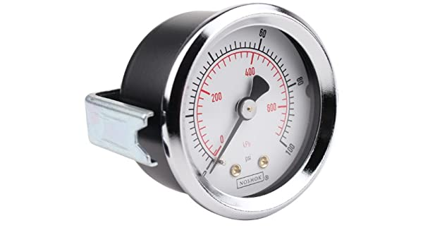 +//-0.5/% Accuracy 45-740-300-psi 0-300 psi Pressure Range 4-1//2 Dial Inc NOSHOK 700 Series Stainless Steel Dry Dial Indicating Process Pressure Gauge with Bottom Mount 4-1//2 Dial