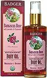 Badger Rose Body Oil - 4 fl oz Glass Bottle