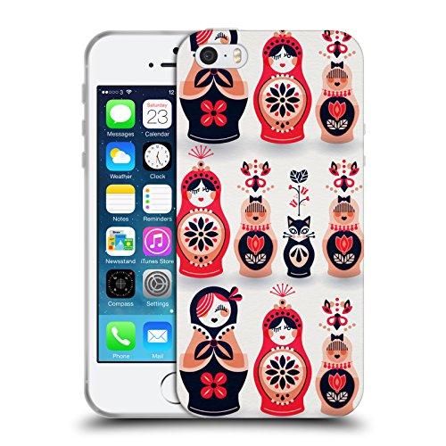 Officiel Cat Coquillette Poupées russes Marine Rose Illustrations De Couleur D'eau Étui Coque en Gel molle pour Apple iPhone 5 / 5s / SE