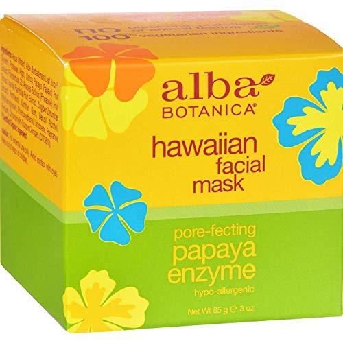 4 Pack of Alba Botanica Hawaiian Papaya Enzyme Facial Mask - 3 oz - - -