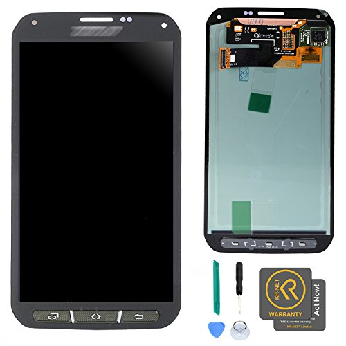 KR-NET Display LCD Touch Screen Digitizer Assembly for Samsung Galaxy S5 Active AT&T G870A w/Buttons + Tools (Green)