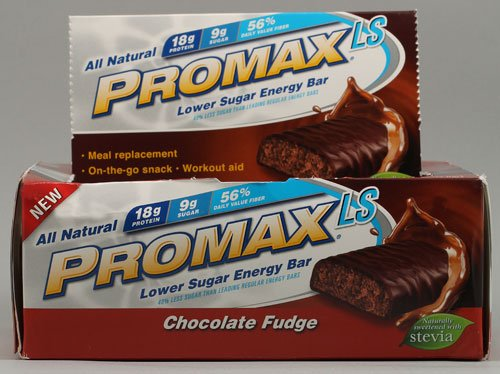 (Promax LS Lower Sugar Energy Bar Chocolate Fudge -- 12 Bars)