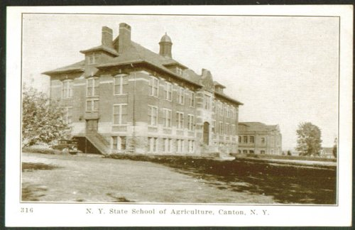 State School of Agriculture Canton NY postcard 1920s from The Jumping Frog