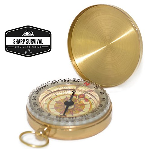 SharpSurvival Camping Survival Compass Military product image