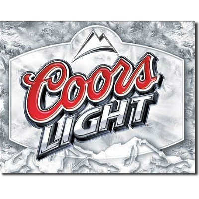 Coors Light Frosted Beer Tin Sign