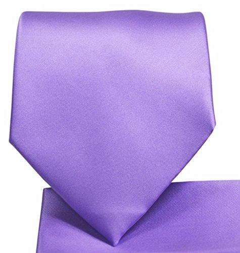 Skinny Necktie Hanky Set- - Lavender Ties Polyester