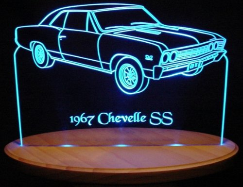 1967 Chevelle SS Acrylic Lighted Edge Lit 13'' LED Sign / Light Up Plaque 67 VVD1 Made in USA
