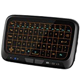 Ronxs Touchpad Mini Keyboard Mouse Remote Combos 2.4GHz Wireless Full Screen Extra Large Touch Zone for Google Android TV Box, HTPC, IPTV, PC, PS3, Xbox 360, Pad