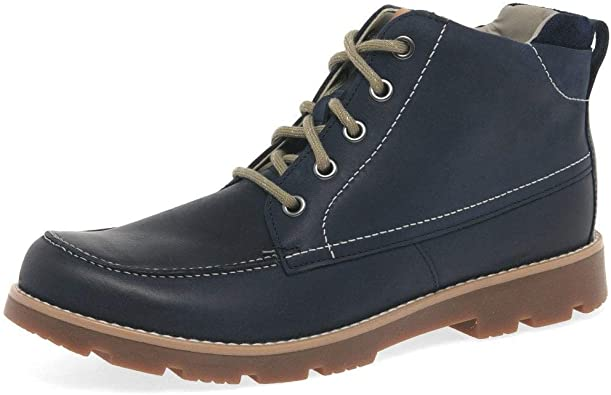 girls navy leather boots