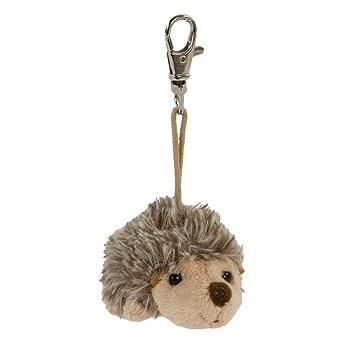 Bukowski Schlüsselanhänger Igel braun 6 cm sitzend Plüschigel
