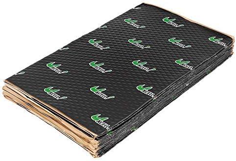 uxcell 17pcs 80mil 18sqft Car Sound Deadener Heat Insulation Mat Pad Damping Self Adhesive Deadening Material Door Roof Floor Sound Barrier