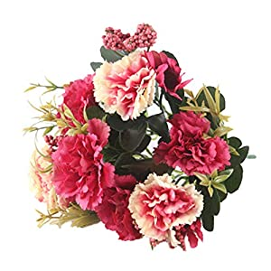 muxiLH 1Pc Artificial Flower Carnation Garden Stage Party DIY Decor - Red 36