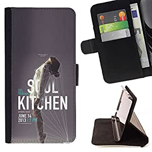 Momo Phone Case / Flip Funda de Cuero Case Cover - Cartel de la música Mujer Evento - HTC Desire 820