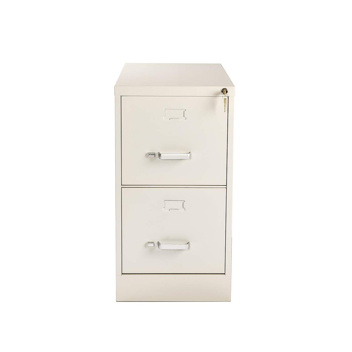 2-Drawers File Cabinet with Lock Metal Rails Hanging Letter-Size Commercial 26.5''Deep for Office Storage Home(Putty White) by YURUCY (Image #6)