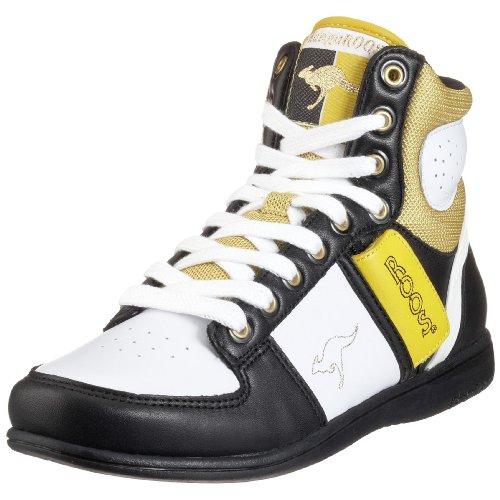 KangaROOS Swish-Hi-Multi 31220, Damen Sportschuhe - Basketball Schwarz / Hell (Wht/Blk/Lemon057)