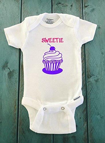 Sweetie Cupcake ONESIE ® brand Gerber Onesie Bodysuit - Funny Onesie - Shower gift - baby clothes - newborn onesie (Birds Sweetie)