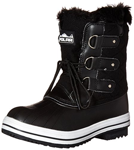 Polar Products Womens Snow Boot Quilted Short Winter Snow Rain Warm Waterproof Boots
