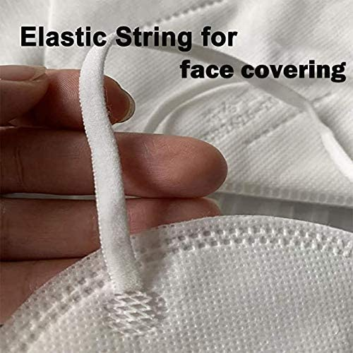 EFIXTK Elastic 1//4 inch Elastic Bands for Sewing White Elastic Cord 50 Yards