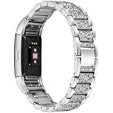 For Fitbit Charge 2 Bands, TreasureMax Stainless Steel Metal Replacement Accessory Bracelet Band for Fitbit Charge 2