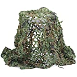 Senmortar Camo Netting, Camouflage Net Army Mesh nets Woodland Durable for Sunshade Decoration Hunting Blind Shooting Camping Photography 6.56 x 20 FT