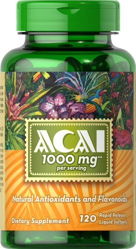 Puritans Pride Acai mg 120 Softgels product image