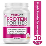 Whey Protein Powder for Women by Foxy Fit - Protein to Promote Weight Loss and Healthy Hair Growth with CLA and Biotin (1.85 lbs.)