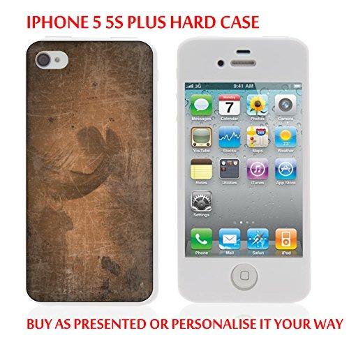 Gc97_iph55s iPhone 5/5S Marron Coque Housse pour tablette Motif texture personnaliser votre texte personnalisé produits fabriqués et vendus Par ThatVinylPlace