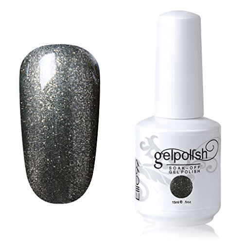 Elite99 Soak-off Gel Polish Lacquer Nail Art UV LED Manicure Varnish 15ml Glitter Olivedrab 1607
