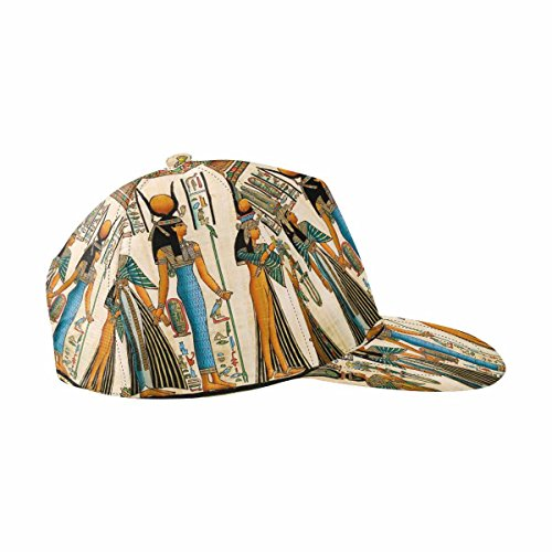 InterestPrint Papyrus Showing Queen Nefertari Making an Offering to Isis Adjustable Baseball Cap Hip-hop Hat -