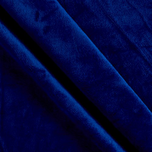 Shannon Fabrics 0535800 Solid Minky Plush Royal Blue Yard